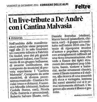 Fonte: Corriere delle Alpi